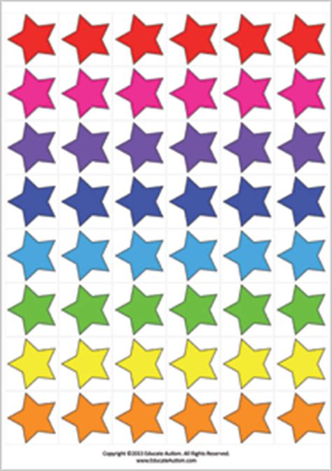 printable star tokens download medium tokens for a token economy educate autism