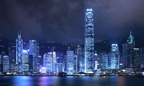 Night Sky Wall Mural hong kong skyline wallpaper cities wallpapers