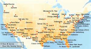 efind web cities southwest flies to