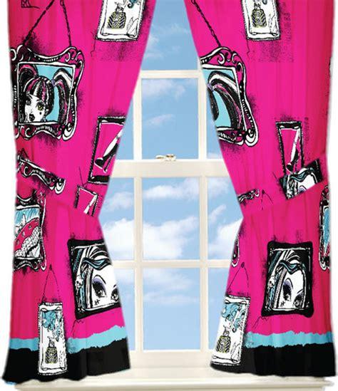 monster high curtains monster high curtains freaky fashion window panels