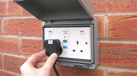 outdoor light socket installing an outdoor socket or exterior power point diy