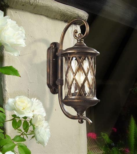 Mediterranean Outdoor Lighting Barrington Gate Hazelnut Bronze Outdoor Wall Lantern With Designer Water Glass Mediterranean