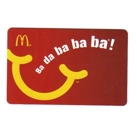 Gift Card Mcdonalds - mcdonald s ba da ba ba gift card 2010 on ebid india 104149417
