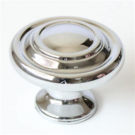 lowes black cabinet knobs shop rusticware traditional chrome round cabinet knob at
