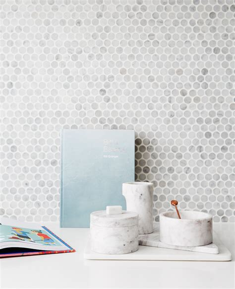 Square Medina Marbel by Kitchen Marble Mosaic Tile Splashback Small