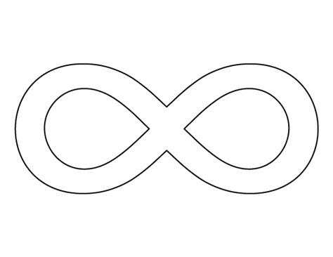 symbol templates free coloring pages of infinity symbol