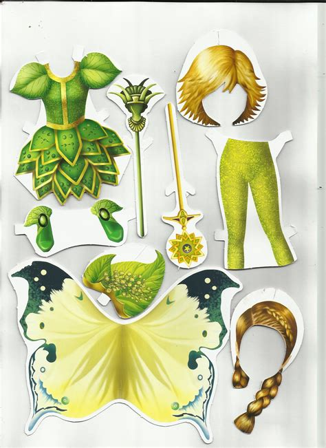 fabulous fairies 3 paper dolls and other paper toys