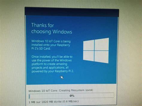 install windows 10 raspberry pi 3 raspberry pi 3 on installe windows 10 iot insider