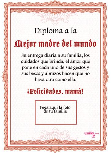 certificado a la mejor abuela del mundo para imprimir gratis picture diploma a la mejor madre para imprimir especial d 237 a de