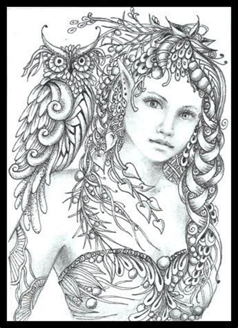 printable zentangle legend fairy tangles minerva by norma j burnell fairy myth