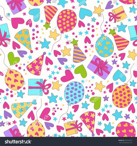 pattern birthday cute vector seamless pattern birthday party background stock