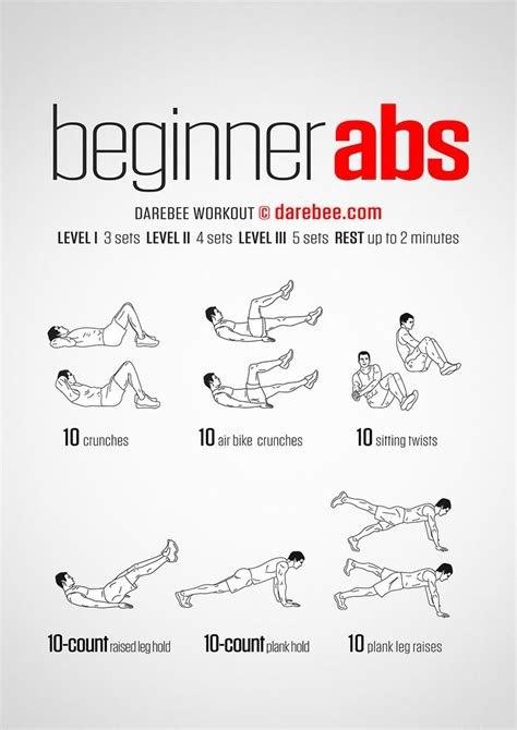 beginner abs workout exercise workout  beginners