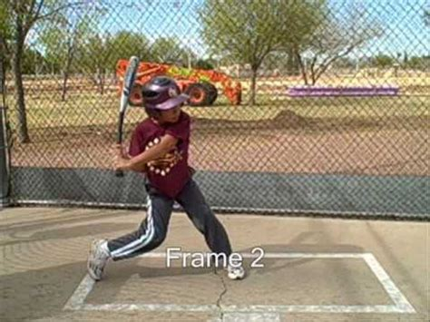 perfect swing batting cages 12 yr old 5 frame swing youtube