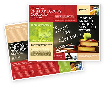 School Brochure Template Free by Back To School Brochure Template Design And Layout