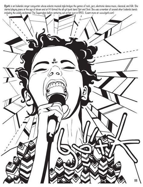 rock music coloring book - Feminist Rockstar Sketchbooks : Women Who ...