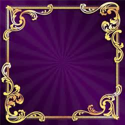 golden frame with purple background vector 01 free over