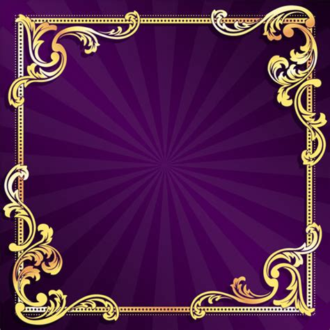 Home Design 3d Vs Gold golden frame with purple background vector 01 free over