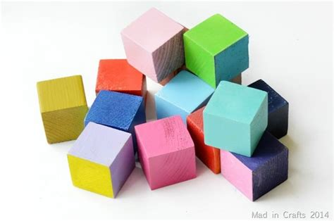 color block color blocked colored blocks mad in crafts