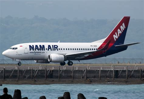 email nam air file nam air boeing 737 500 at bali airport jpg