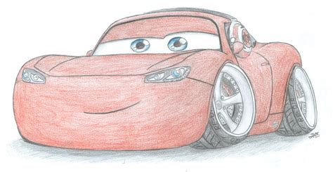 stanced cars drawing stanced lightning mcqueen by curtthemadprofessor on deviantart