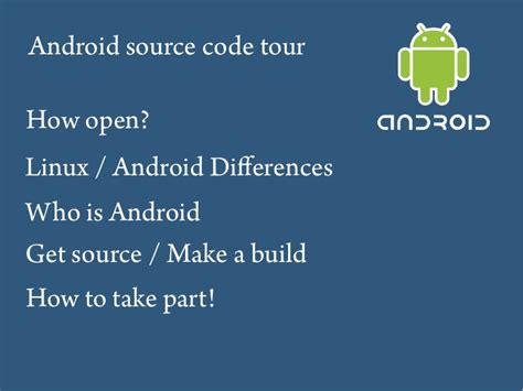 android source code android source code guided tour