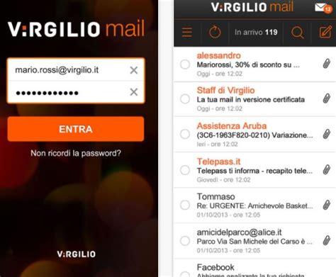 dati email virgilio mail login e dati di configurazione