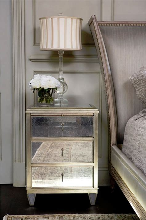 mirrored side table bedroom mirrored nightstand dream home pinterest