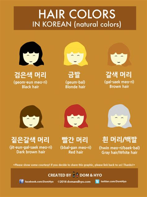 vocabulary hair colors in korean vocabulary hair colors in korean dom hyo