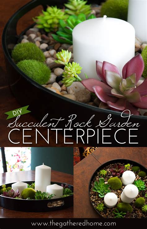 diy succulent rock garden centerpiece succulent rock garden succulents diy succulents