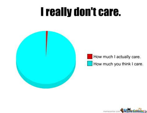 I Don T Care Meme - i really don t care by lorlor meme center