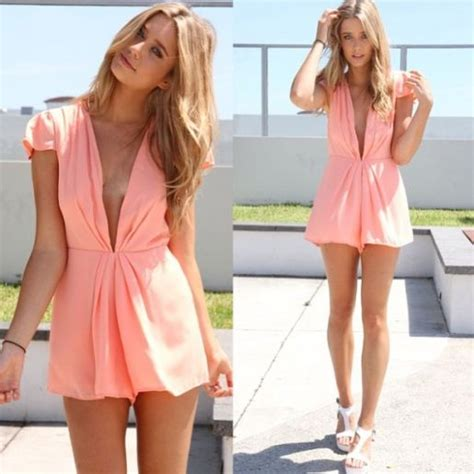 Summer Dress Pantai Sundress Jumpsuit On Romper Orange Leaf the world s catalog of ideas