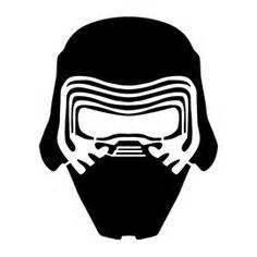 kylo ren helmet coloring page boba fett vinyl decal many colors available my etsy