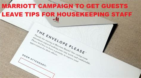housekeeping tips coming soon to a marriott near you no mints chocolates