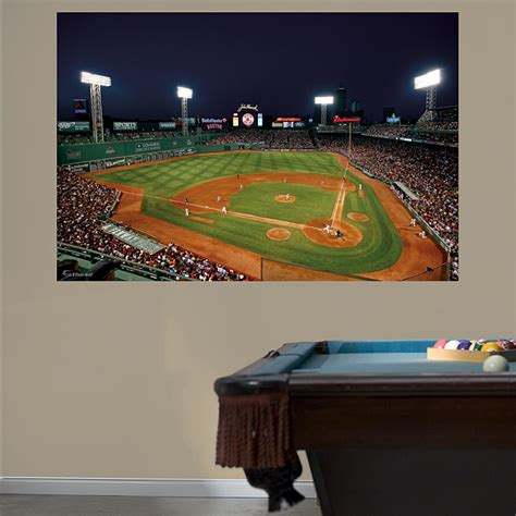 inside fenway park at mural wall decal shop fathead 174 for boston sox decor