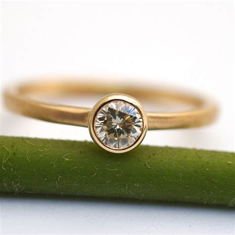 simple engagement ring by kyleannemetals on etsy