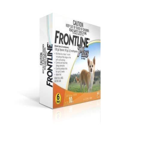 frontline plus for dogs 22 lbs frontline plus orange 6 for dogs up to 22 lbs