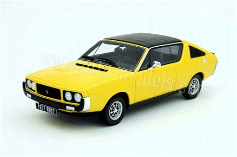 renault 17 gordini renault 17 gordini yellow 1977 ottomobile diecast model