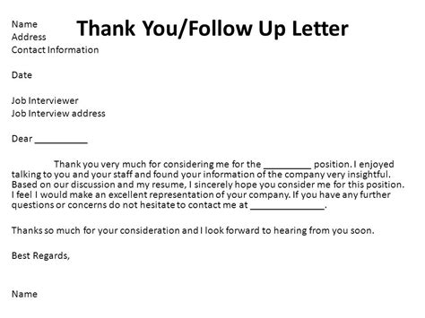 Employment Consideration Thank You Letter Professional Portfolio Ppt