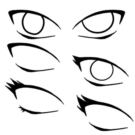 naruto style eye bases by xcalee on deviantart