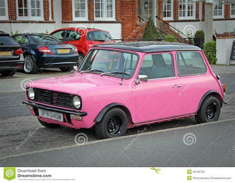 pink mini car pink mini car stock image cartoondealer 42150793