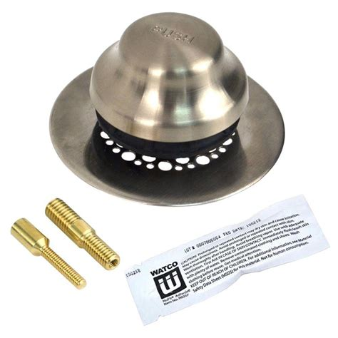 best stopper strainer watco universal nufit foot actuated bathtub stopper with