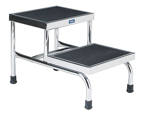 Stainless Steel Step Stool With Handrail by Chrome Plated Steel Step Stools With Handrail W Handrl
