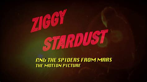 Ziggy Stardust The Motion Picture