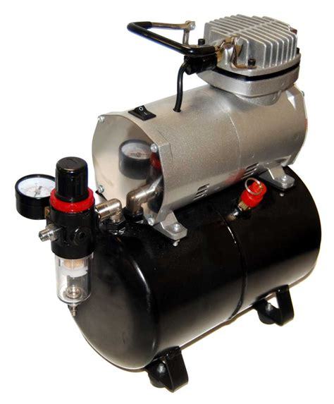 type single cylinder piston compressor w air tank