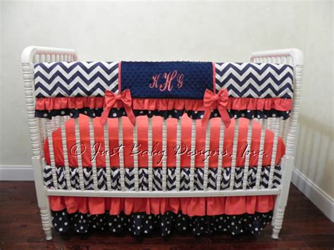 coral nursery bedding sets navy and coral baby bedding set baby bedding