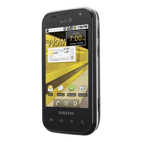 sprint android phones samsung transform bluetooth wifi android pda phone sprint excellent condition used cell
