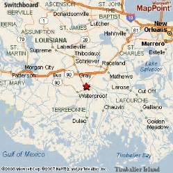 Houma Louisiana Map by Houma Louisiana
