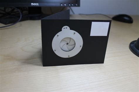mechanical iris card template mechanical iris card improved
