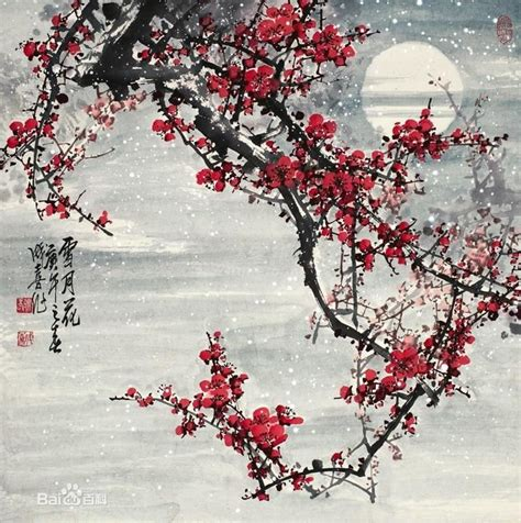cherry blossom grasses moon and plum blossom painting 1240 best images about art landscapes on pinterest