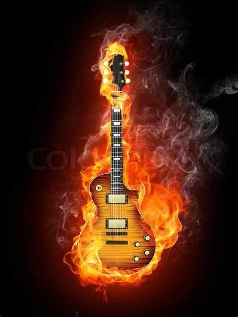 guitar  fire wallpaper wallpapersafari